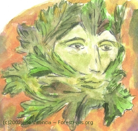 Green Man art by Jane Valencia