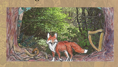 Red Fox - art by Jane Valencia (c) 2011