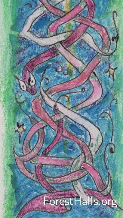 Water Snake Wonderings - art