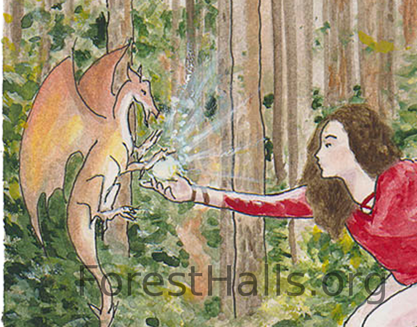 Dancing with a Dragon - excerpt - Illustration