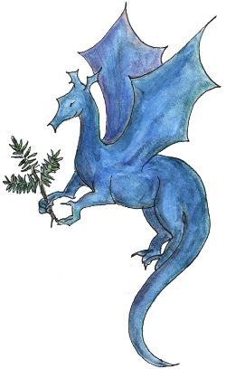 A blue dragon